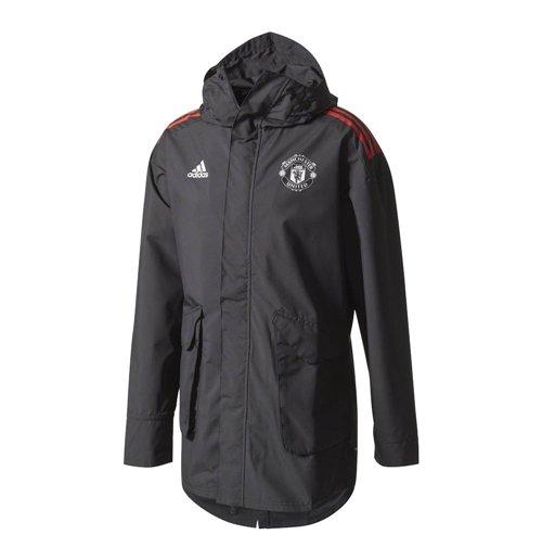 Capa de chuva homem Utd Adidas UCL 2017 2018 (Preta)