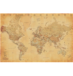 Poster World map 279168