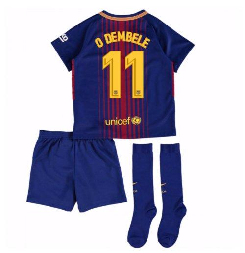 d003d73cfc Uniforme de futebol para criança FC Barcelona 2017-2018 Home (O Dembele ...