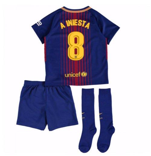 Uniforme de futebol para criança FC Barcelona 2017-2018 Home (A Iniesta ... 78138d0d15281