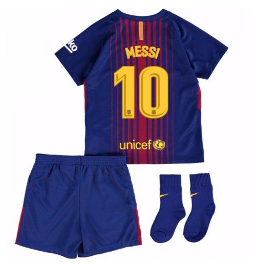 Compra Uniforme de futebol para bebê FC Barcelona 2017-2018 Home ... 8cfd689cc1979