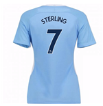 Camiseta 2017/18 Manchester City FC Home de mulher (Sterling 7)