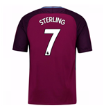 Camiseta 2017/18 Manchester City FC Away (Sterling 7)