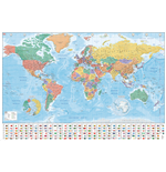 Poster World map 282635