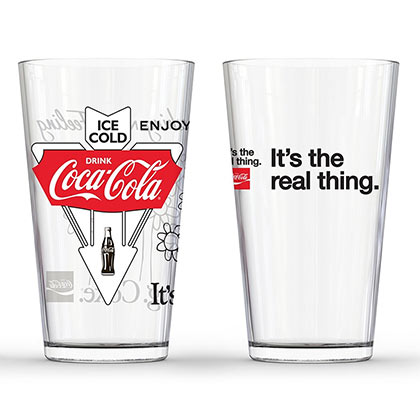 Pack 2 Copos Coca Cola It's The Real Thing