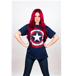Camiseta Marvel Superheroes de homem - Design: Captain America Distressed Shield