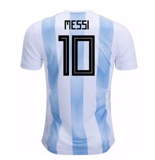Camiseta 2018 19 Argentina Futebol 2018-2019 Home (Messi 10) de criança d007c5d3afb84