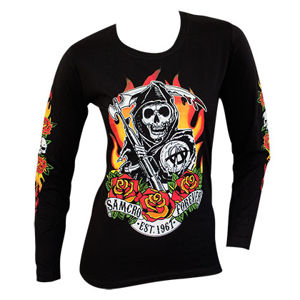 Camiseta manga comprida Sons of Anarchy de mulher