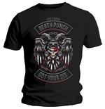Camiseta Five Finger Death Punch de homem - Design: Biker Badge