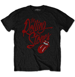 Camiseta Masculina dos Rolling Stones: Logo Script (Soft-Hand Inks)
