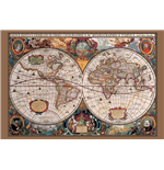 Poster World map 293388