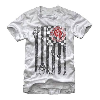 Camiseta Gas Monkey Garage Wrench Flag