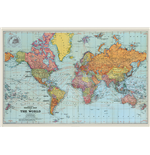 Poster World map 294342