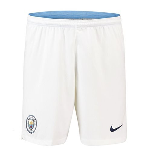 Shorts Manchester City FC 2018-2019 Home (Branco)