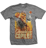 Camiseta Star Wars de homem - Design: Solo Chewie Co-Pilot