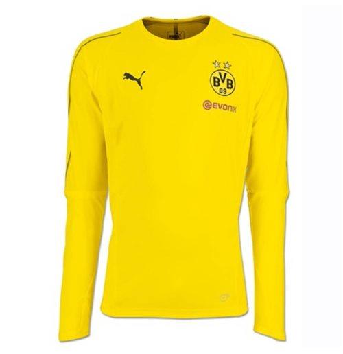 2018-2019 Borussia Dortmund Puma camisa de treino de manga comprida  (amarelo) 2d2d92df0b5cc