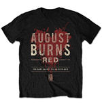 Camiseta August Burns Red de homem - Design: Hearts Filled