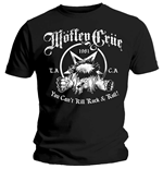 Camiseta Mötley Crüe de homem - Design: You Can't Kill Rock & Roll