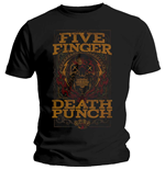 Camiseta Five Finger Death Punch de homem - Design: Wanted