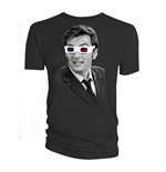 Camiseta Doctor Who de homem - Design: 10th Doctor 3D Glasses
