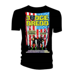 Camiseta 2000AD de homem - Design: Judge Dredd US Flag - Crimes Against America
