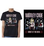 Camiseta Mötley Crüe unissex - Design: Shout at the Devil