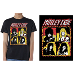 Camiseta Mötley Crüe unissex - Design: Shout at the Devil Flames