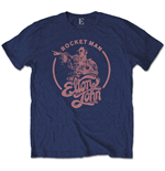 Camiseta Elton John unissex - Design: Rocketman Circle Point