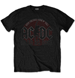 Camiseta AC/DC unissex - Design: Hard As Rock