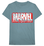 Camiseta Marvel Superheroes unissex - Design: Distressed Dripping Logo