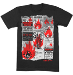 Camiseta Stiff Little Fingers unissex - Design: Flyer