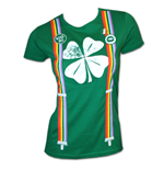 Camiseta Shamrock Rainbow Suspenders Irish