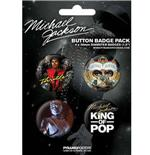 Conjunto Distintivos Michael Jackson-King Of Pop
