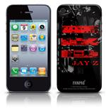 Capa Cover Skin iPhone 4G Jay Z-Red logo.Produto oficial Emi Music