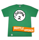 Camiseta Dr. Seuss Inspired Drunk 2 Bottle Opener