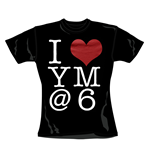 Camiseta You Me At Six I Heart. Produto oficial Emi Music